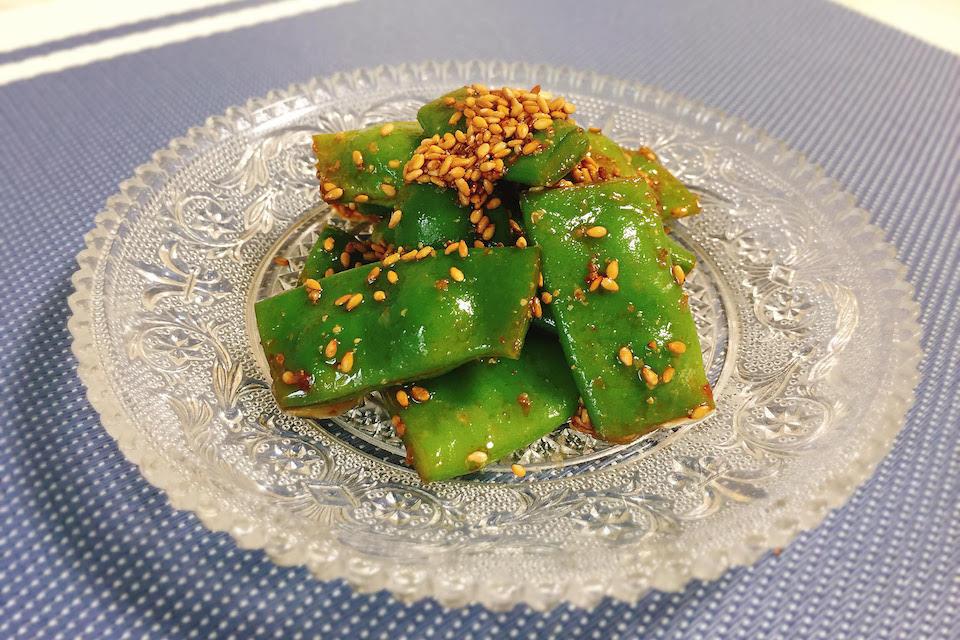 モロッコ豆のピリ辛胡麻ナムル