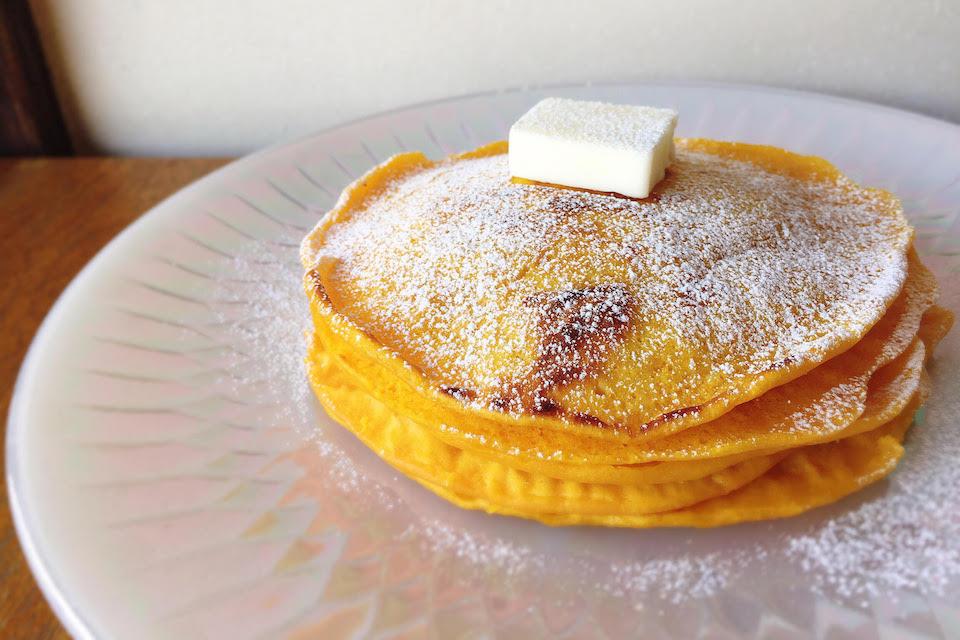 バターナッツかぼちゃのパンケーキが朝食にも子供のおやつにも